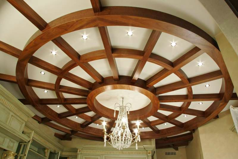 14 gypsum false ceiling design with wooden decorations for for Living room gypsum ceiling designs