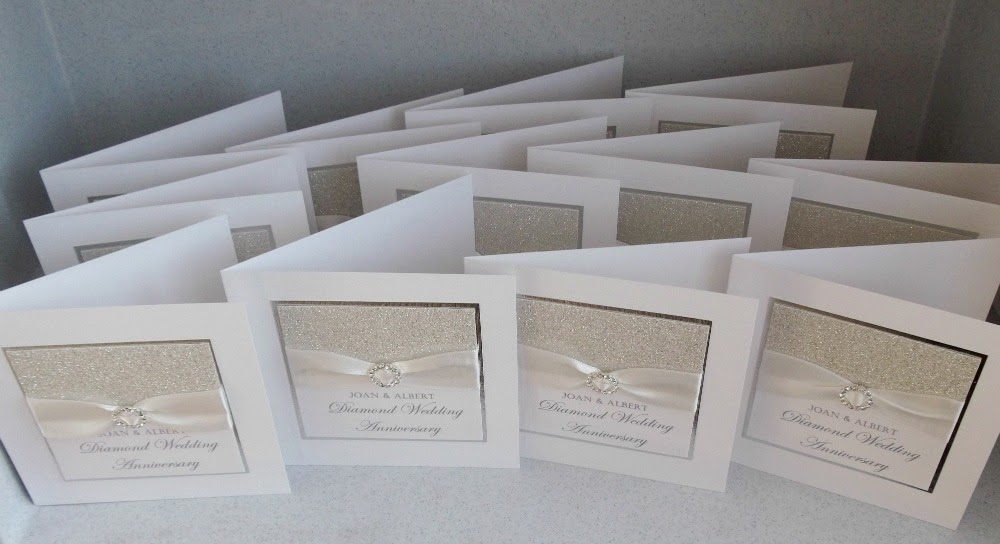Paper Daisy Cards Diamond wedding anniversary invitations