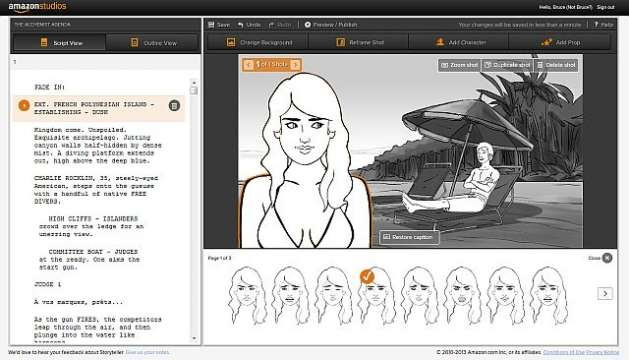 Turn your Movie script into a storyboard with the Amazons new free beta 'Storyteller storyboarding' App