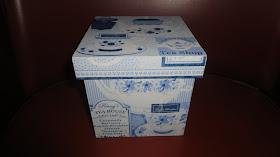 caixa chá azul