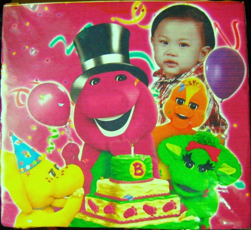 My party with barney personalized dvd pictures