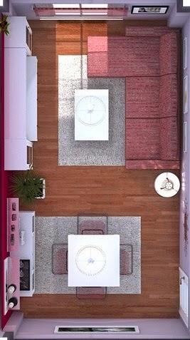 Arantxa Amor decoración.: Un salón comedor pequeño y acogedor