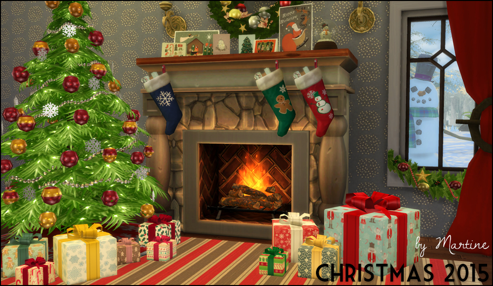 My sims 4 blog christmas decor by martine for Decoration 4 christmas