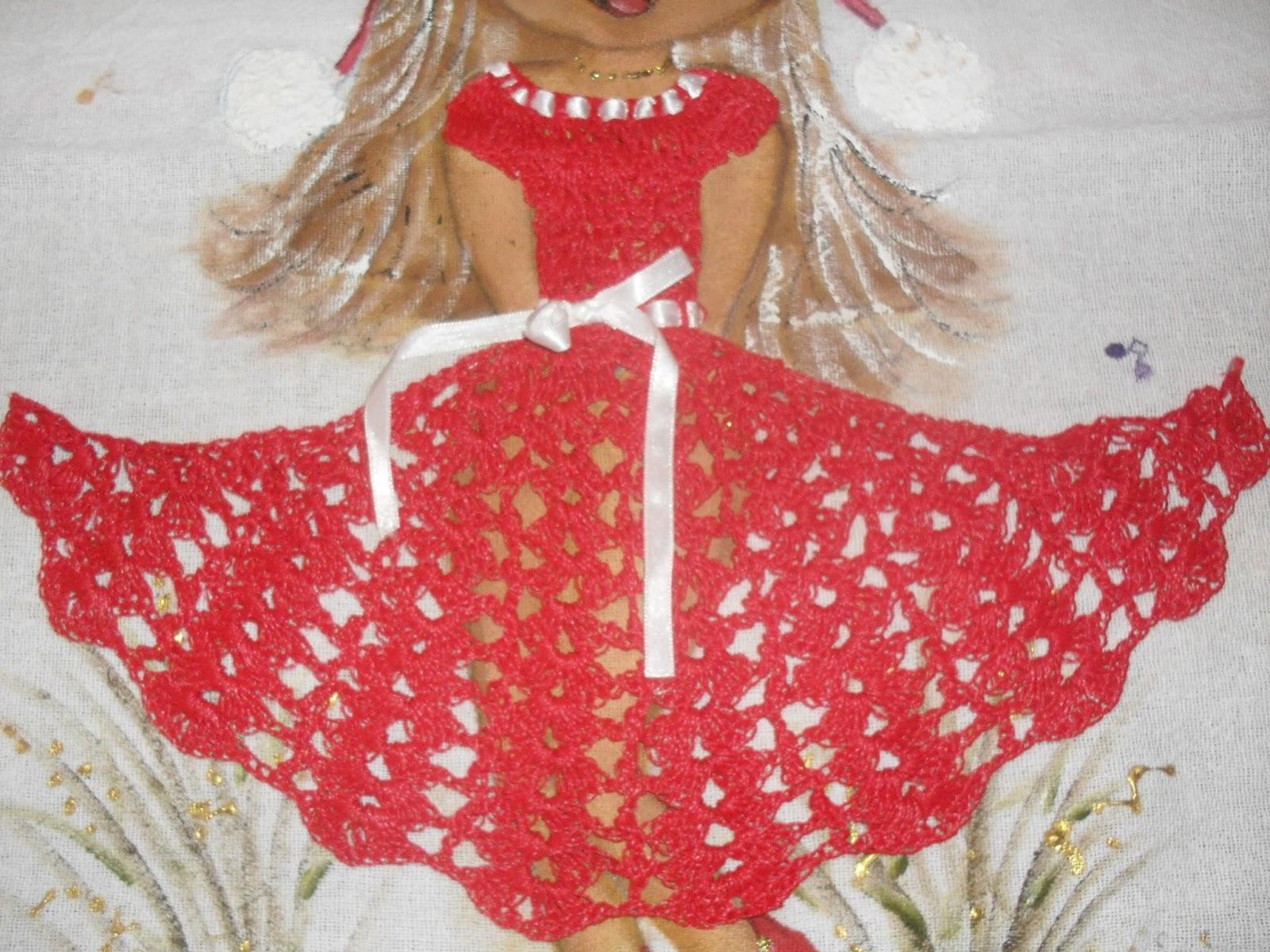 Favoritos Rosartes: panos de prato com bonecas de croche, GU57