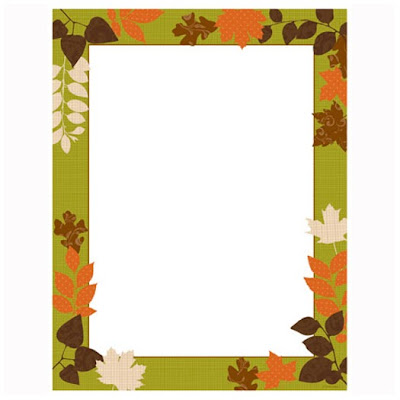 Patterned Leaves Autumn Fall Thanksgiving Computer Paper