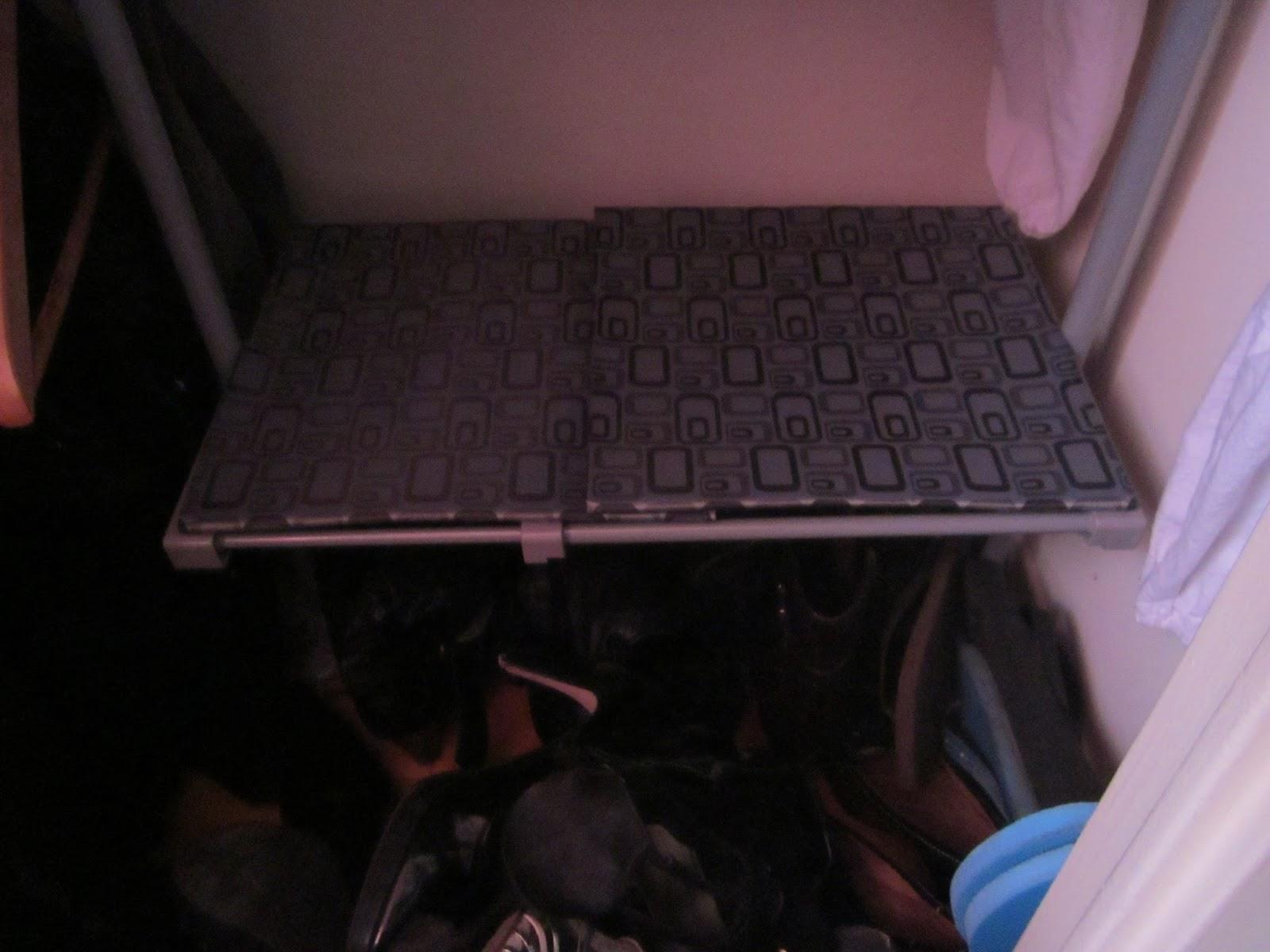 diy closet shoe mat