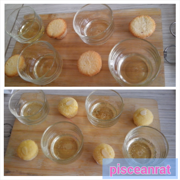 Buttery Pound n white wine Lemon almond sparkling