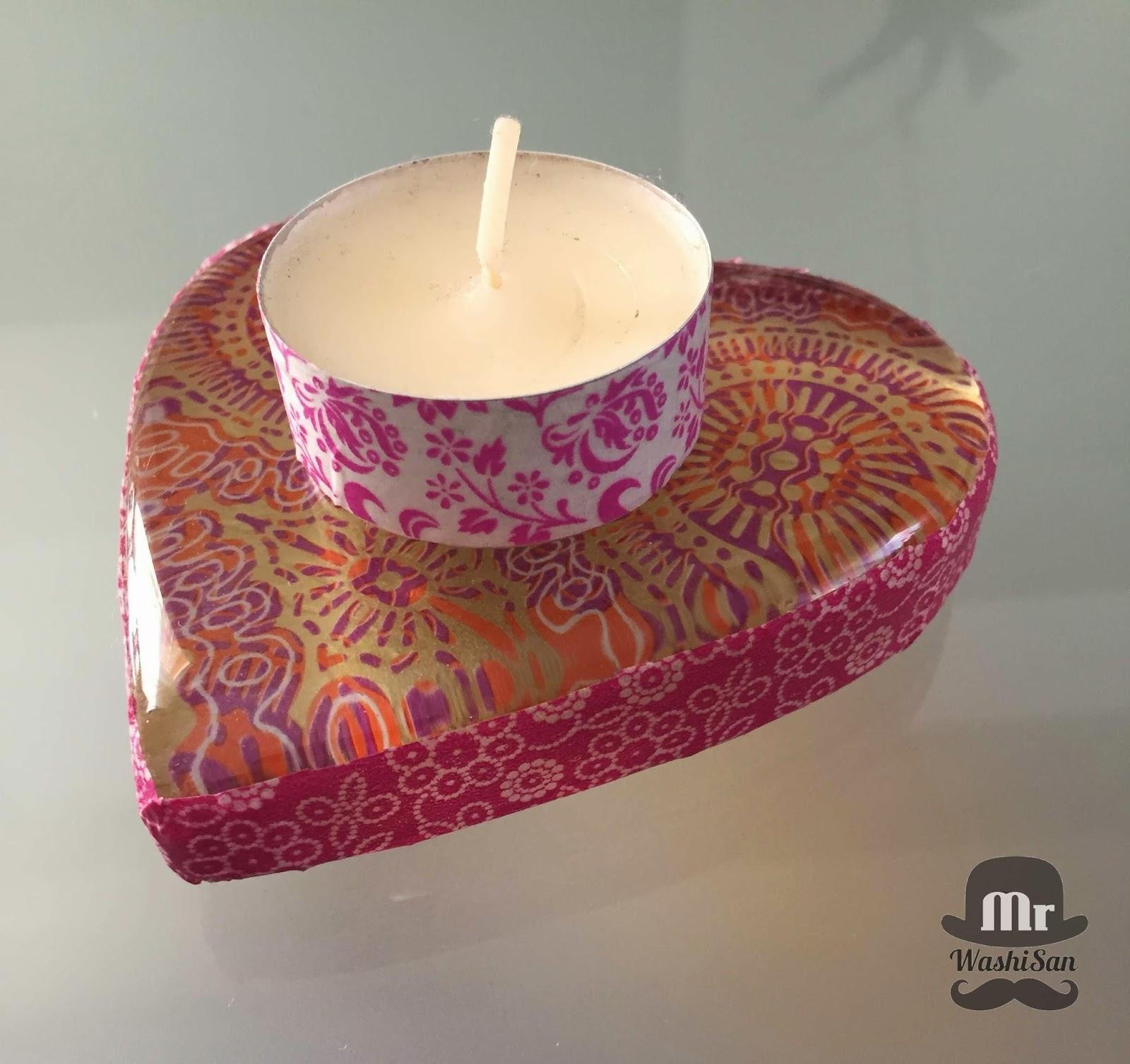 Corazón de cristal con decoupage y washitape diy handmade by mrwashisan http://mrwashisan.blogspot.com.es