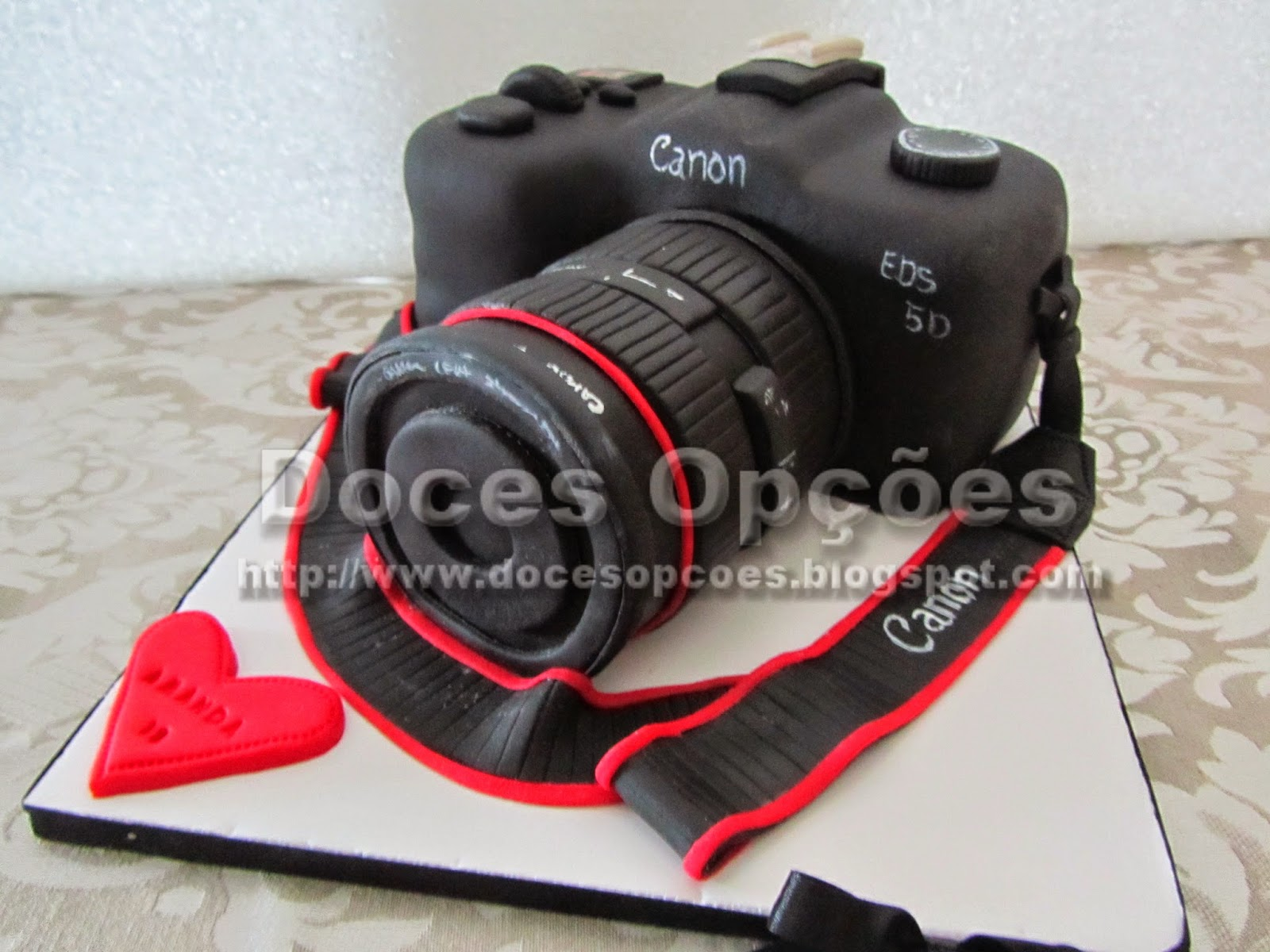 bolo aniversário Bolo Máquina fotográfica