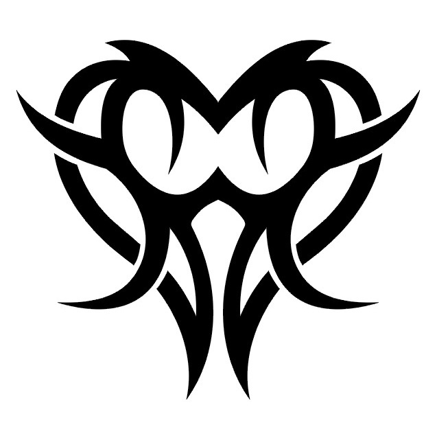 Simple Tribal Heart Tattoo