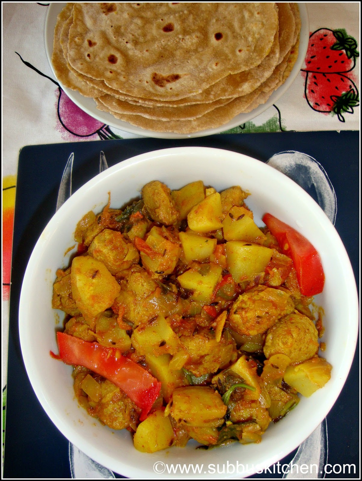 Aloo Soya Chunks Curry