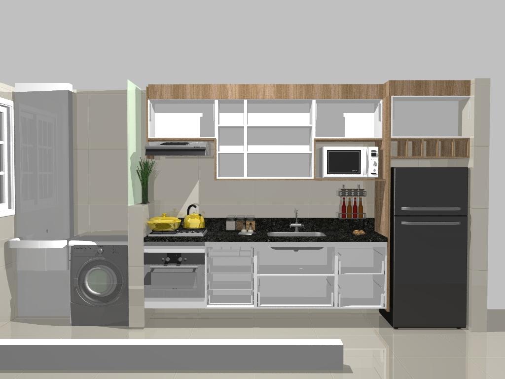 #A48E27 Reforma do meu apê: Planejados Cozinha e lavanderia 1024x768 px Projetos De Cozinhas Pequenas Com Lavanderia #663 imagens