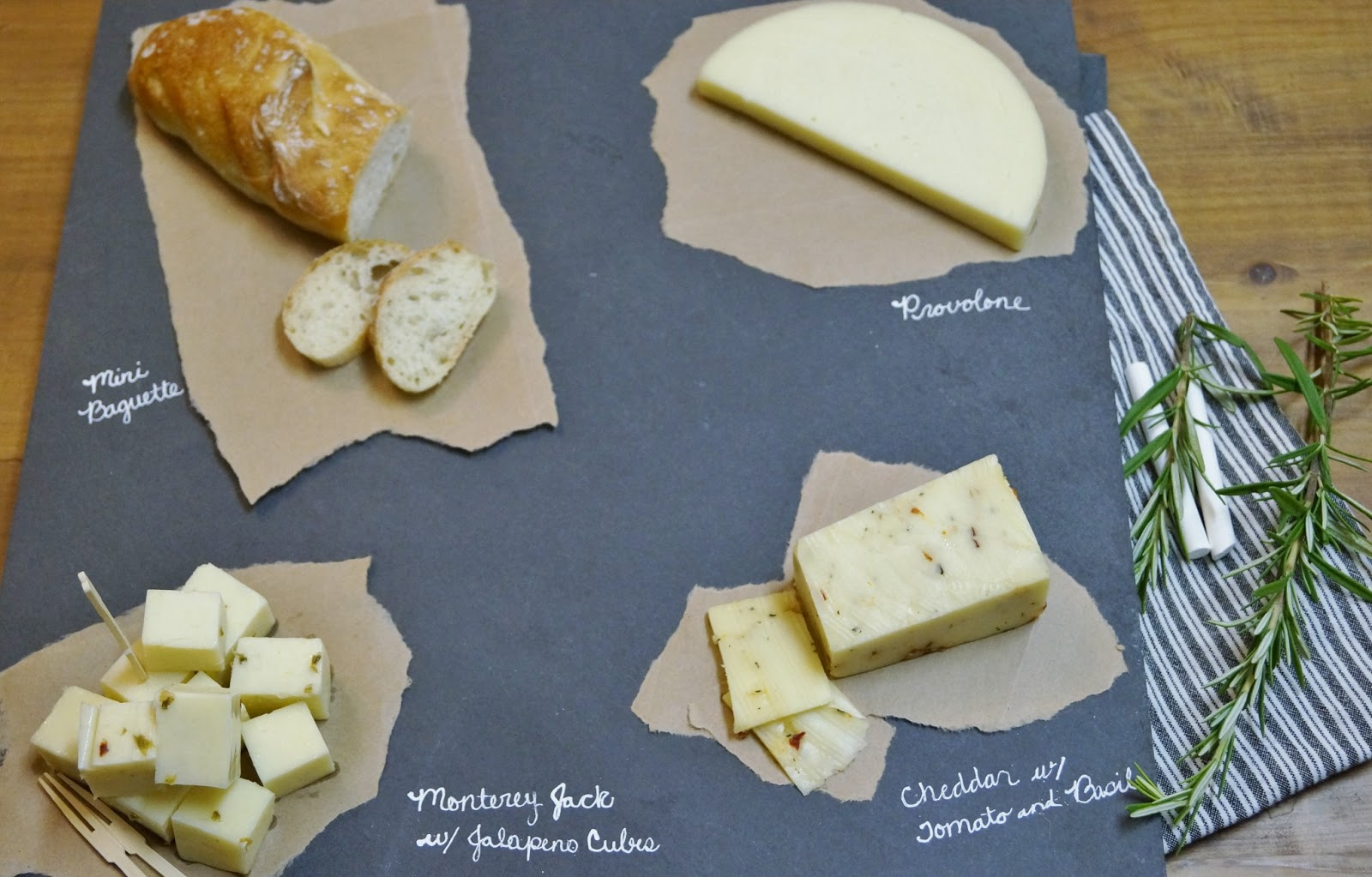 iu0027ve seen many different cheese platters and displays but i love the slate boards best itu0027s such a great color and is very versatile making it simple to