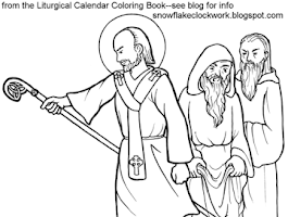St  Patrick Catholic Coloring Page