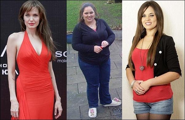 Inglesa perde quase 70 kg para ficar parecida com Angelina Jolie