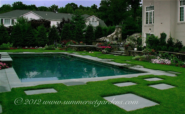 Garden design bergen county nj swimming pool spa for Swimming pool landscape design