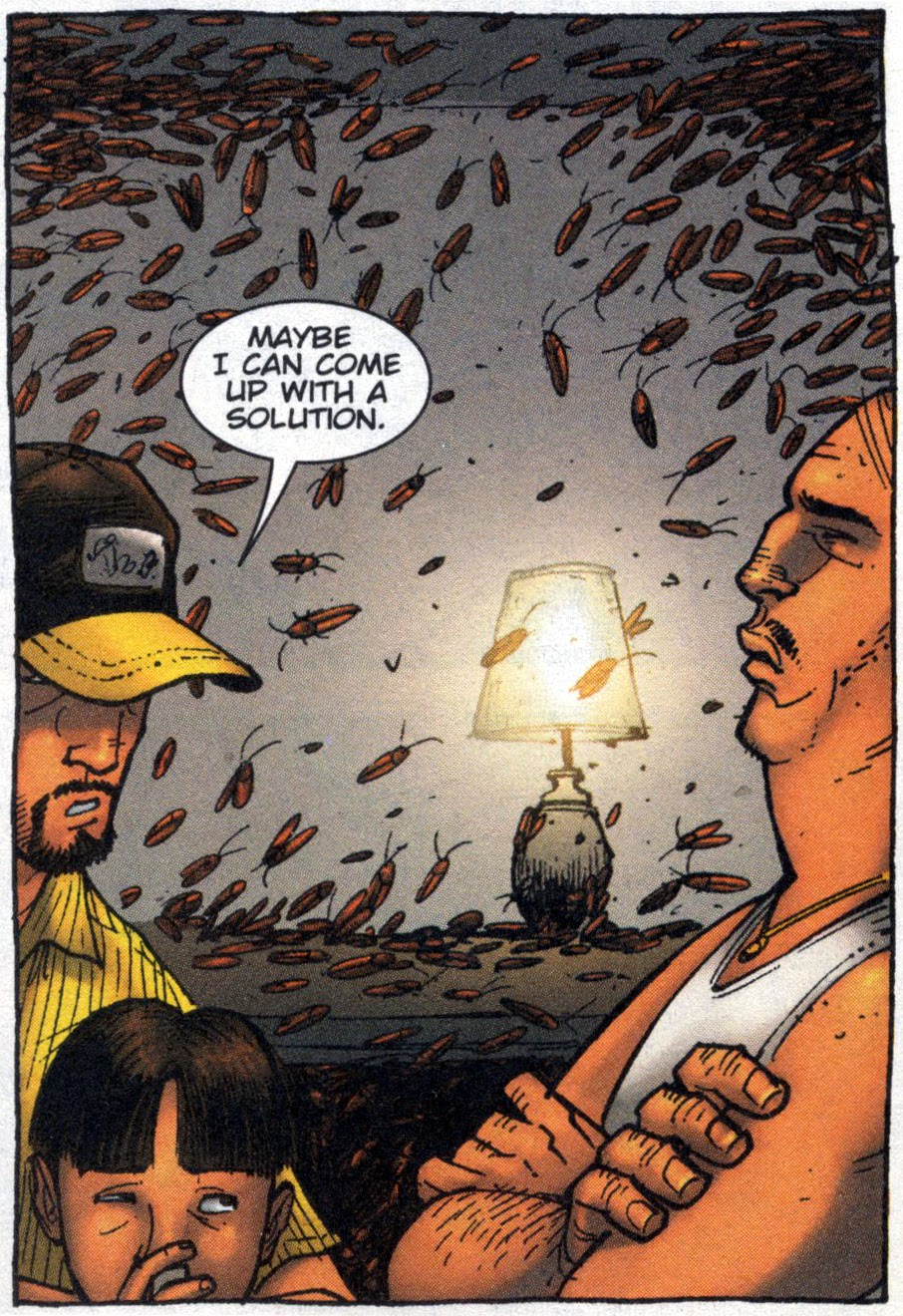 panel from Exterminators: Bug Brothers by Simon Oliver & Tony Moore