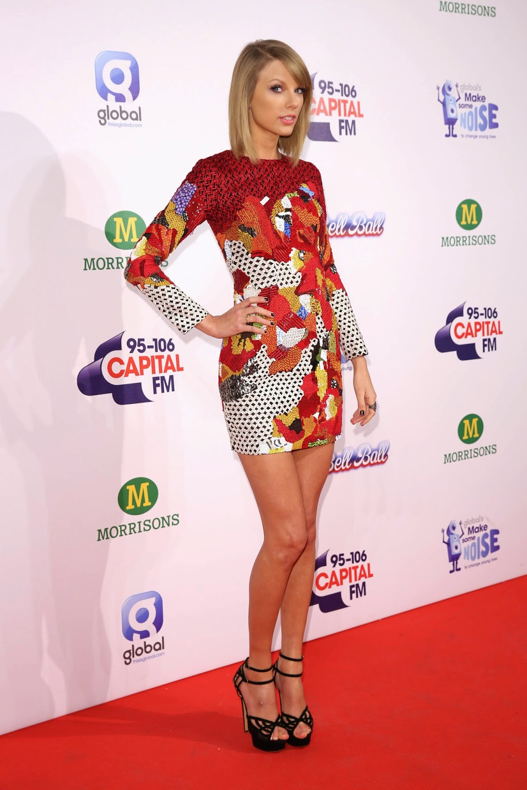 Taylor Swift Very Leggy Wearing Sexy Mini Dress At The Z100s Jingle Ball | Gutter Uncensored