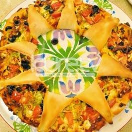 Çiçek Şeklinde Pizza Tarifi