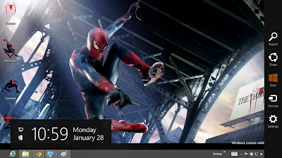 The Amazing Spider Man 4 Theme For Windows 8