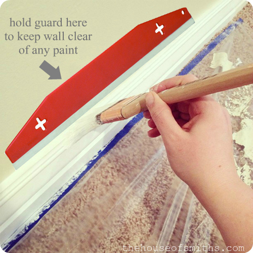 Project basement makeover the best way to paint baseboards for How to paint trim