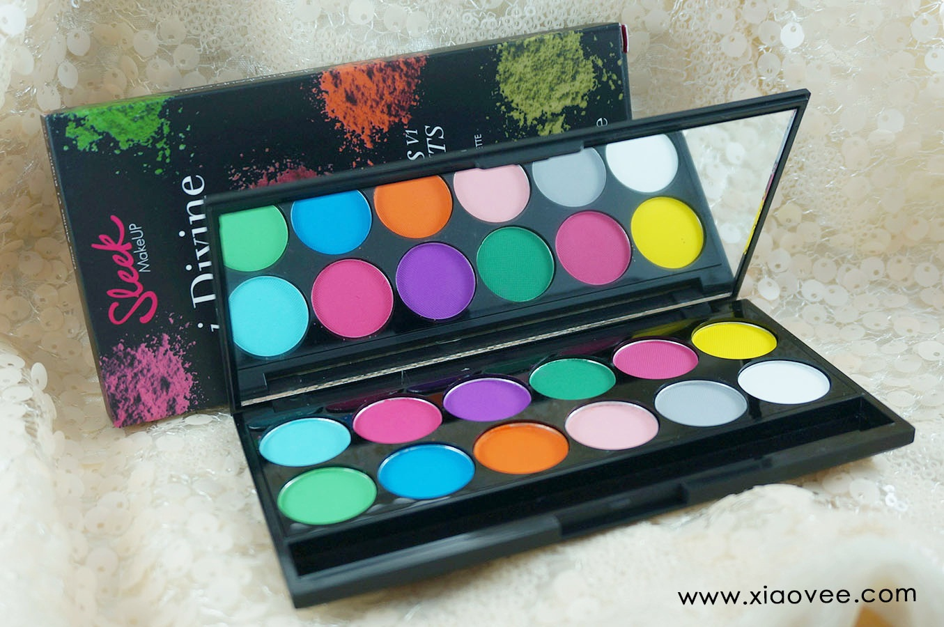 Sleek i-Divine Ultra Mattes V1 Brights Palette review, neon bright palette