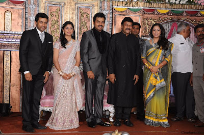 Jyothika in Karthi reception photos