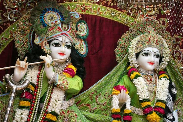 Close View of Sri Sri Radha Vrindavana Chandra [Sri Krishna and Srimati Radha Rani]