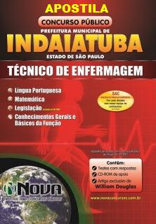Apostila Prefeitura Indaiatuba Técnico de Enfermagem (Impressa)