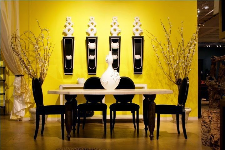 Wall paint ideas for dining room for Ideas for dining room walls
