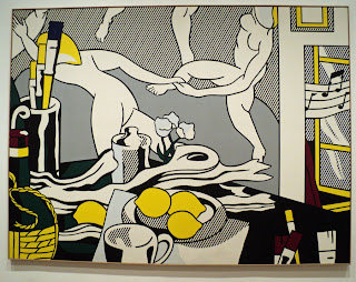 Roy Lichetenstein painting at The Art Institute of Chicago