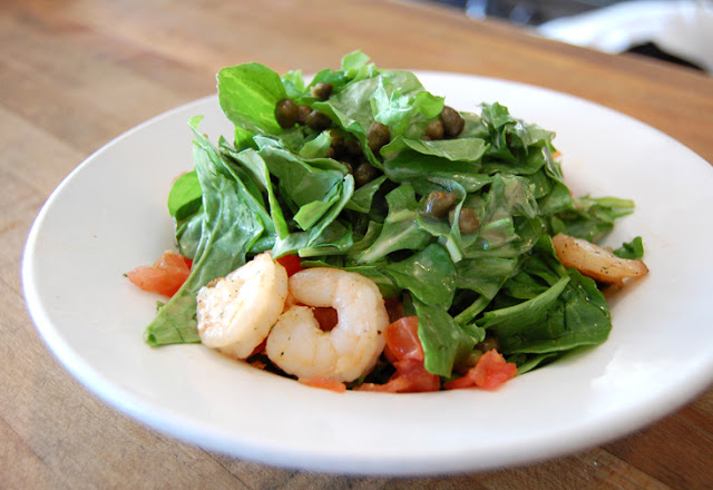 Lynne's Salad is a delicious mix of Arugula, Capers, and Fresh Tomato ...