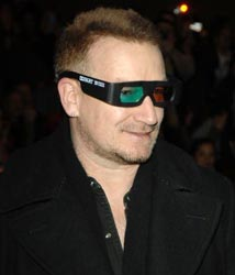 Bono Vox na pré-estréia de U2 3D