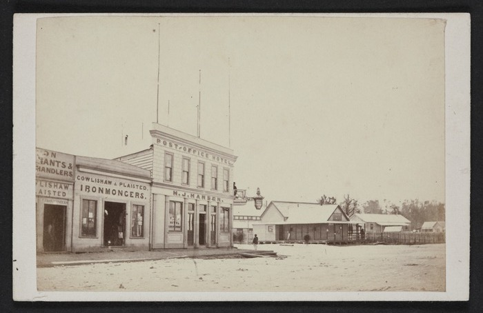 Tait Brothers (Hokitika) Fl 1867: Photograph Of Post Office Hotel,  Hokitika. Ref: PA2 1761. Alexander Turnbull Library, Wellington, New Zealand.  ...