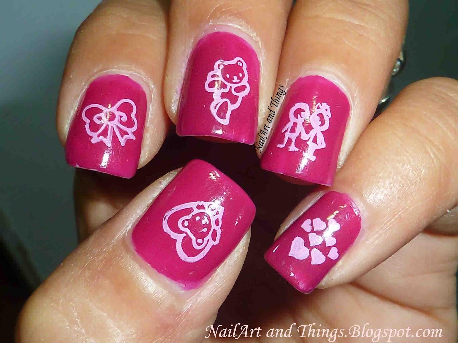 nailart and things cuteteddy nail art
