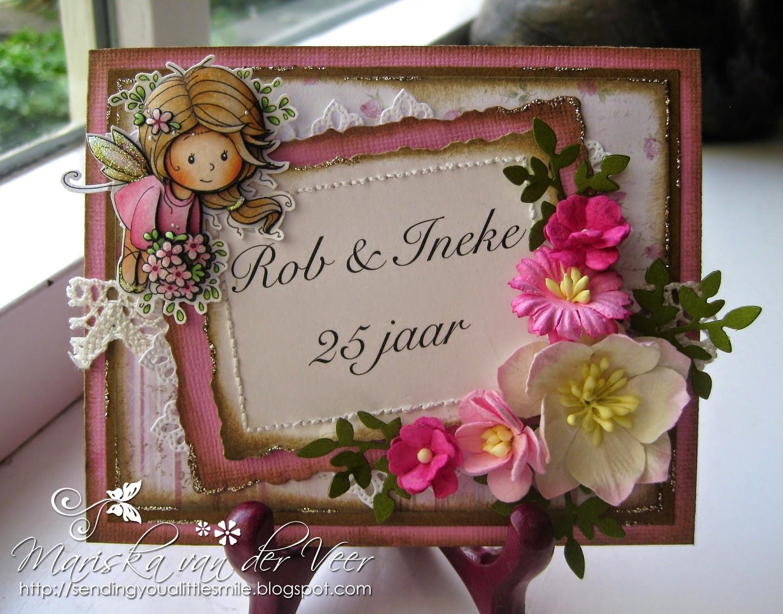 Wild orchid crafts wedding anniversary card