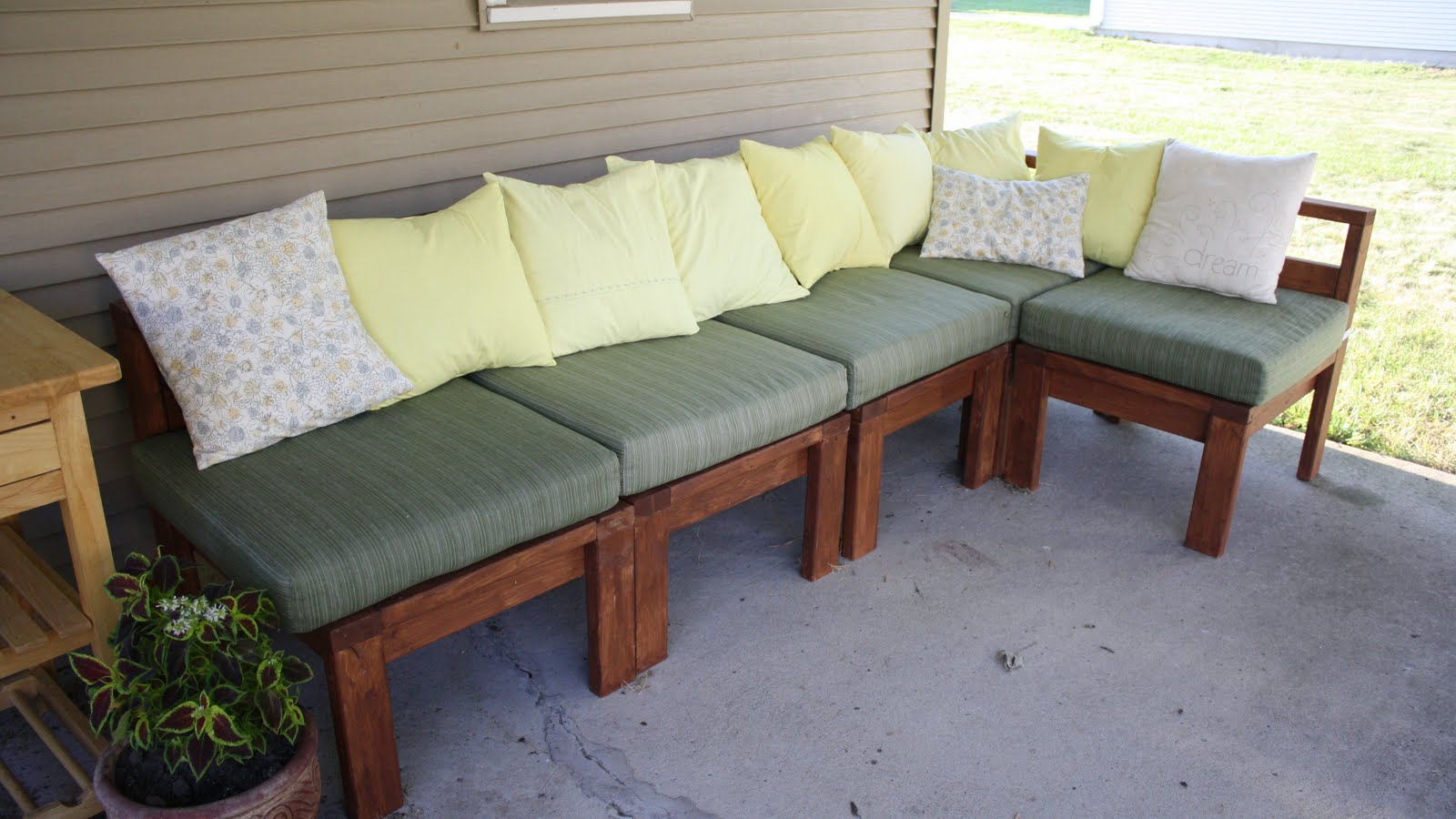More like home patio perfection for Diy patio couch