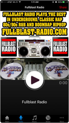 THE FULLBLAST RADIO APP