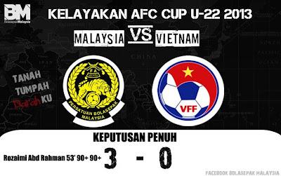 Video Malaysia Vs Vietnam 30 Jun 2012 | Kelayakan Piala Asia (AFC) B22 2013