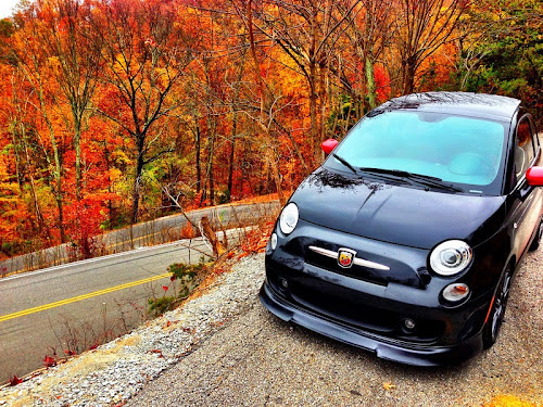 Fiat 500 Abarth at the Fiat on the Dragon Event