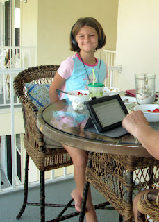 Tessa insisted on breakfast on the balcony. Who could blame her?