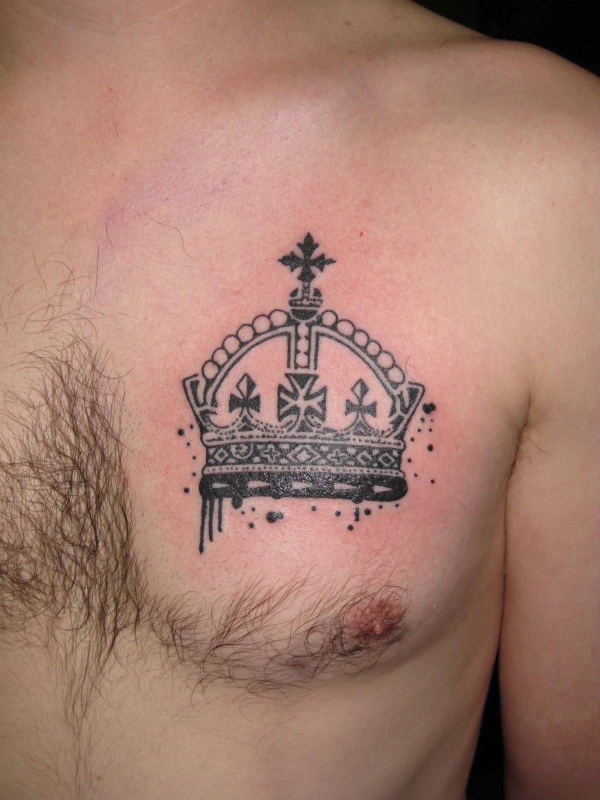 Tattoos for men on hand great tattoos for Crown chest tattoo