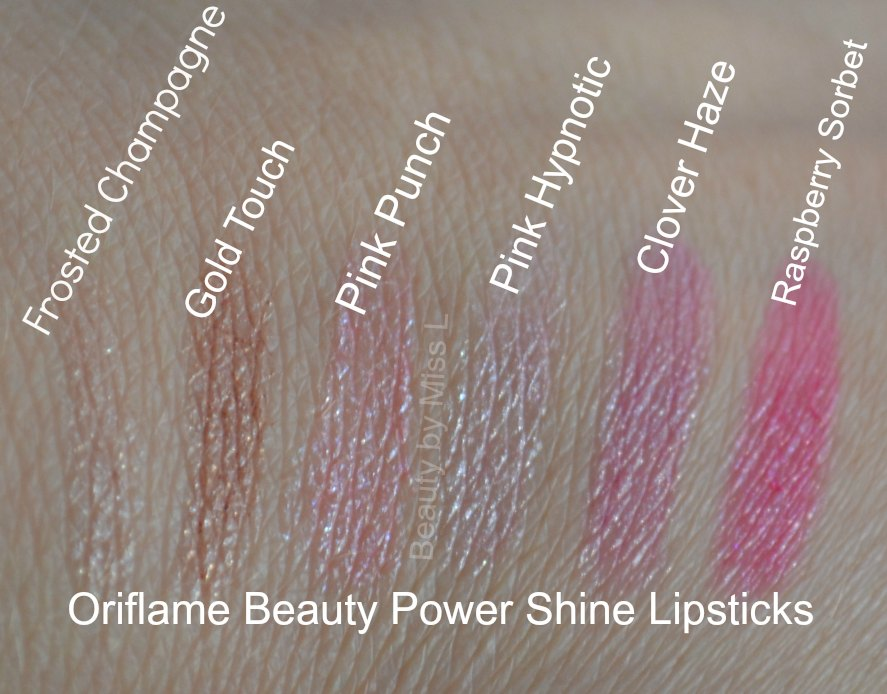 Frosted Champagne, Gold Touch, Pink Punch, Pink Hypnotic, Clover Haze, Raspberry Sorbet
