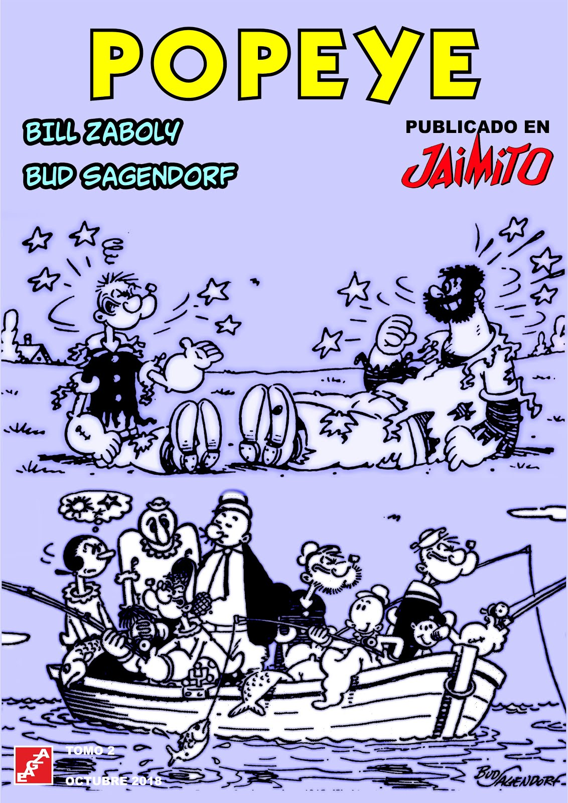 Popeye en Jaimito - 2 Tomos - B. Záboly - B. Sagendorf - EAGZA