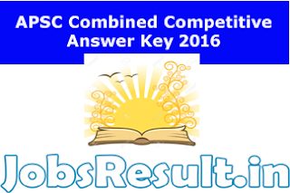 APSC Combined Competitive Answer Key 2016