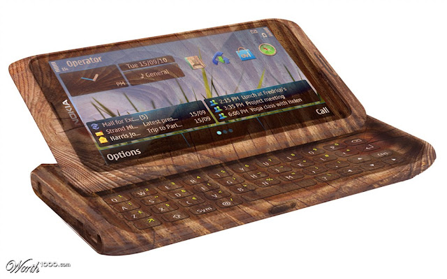 wooden nokia mobile