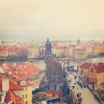 View of the Charles Bridge & Vltava River