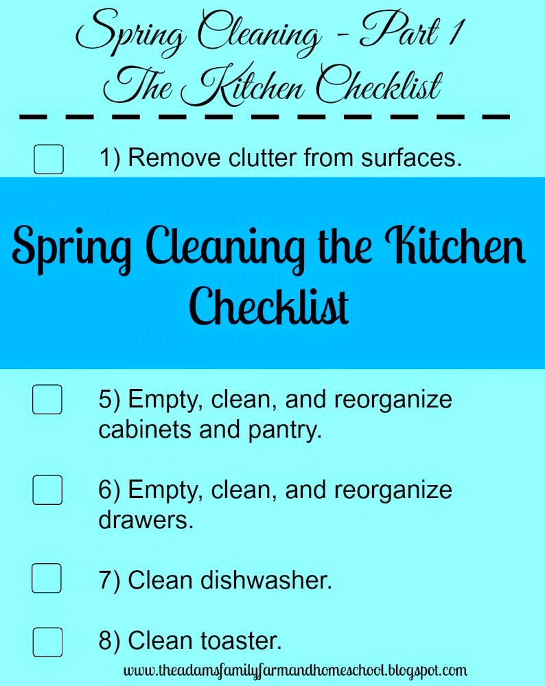Spring Cleaning the Kitchen Checklist