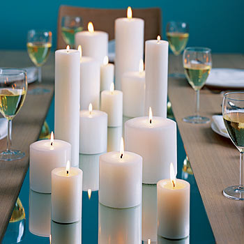 Miriam ackerman events simple centerpieces for Bougies decoration table