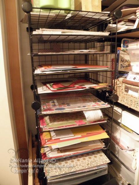 Rangement de papiers et retailles accro des tampes - Cube metallique rangement ...